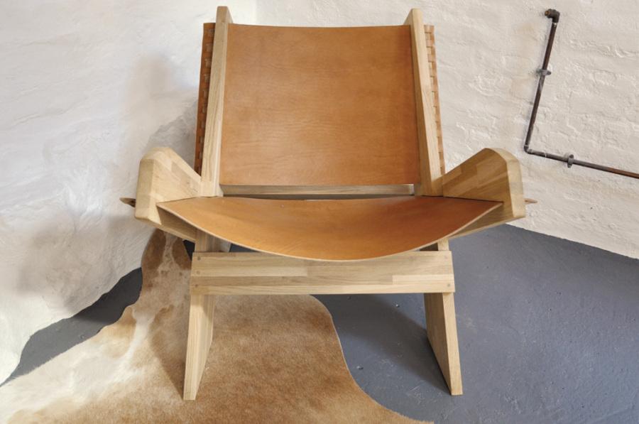 Kernelæder stol